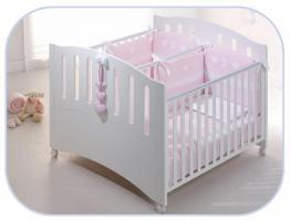 Foto 5 Baby Zwillingsbett Gemini Vollholz Buche Bett für Zwilling Azzurra Design