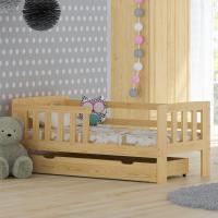 Babybett Bett Lattenrost WEIß KIEFER MM010 70x160/NA/WE