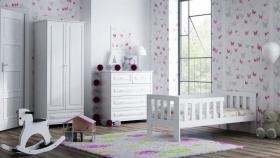 Foto 4 Babybett Bett Lattenrost WEIß KIEFER MM010 70x160/NA/WE