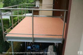 Balkonsanierung Farbton FB - Terra.