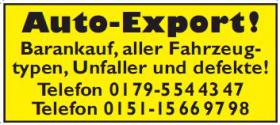 Bar Ankauf Sofort Auto Export Pkw & Lkw
