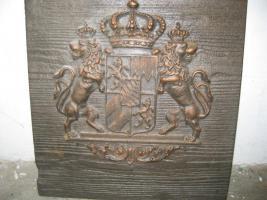 Bayrisches Staats-Wappen Gusseisen (Handguss)