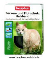Beaphar Zecken- und Flohschutz Halsband Katze, 35cm ''Nach dem Vorbild der Natur''