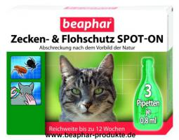 Beaphar Zecken- und Flohschutz SPOT-ON Katze