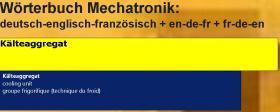 Begriffe Kaeltetechnik + Klimatechnik uebersetzen: deutsch-englisch-franzoesisch Woerterbuch