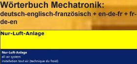 Foto 2 Begriffe Kaeltetechnik + Klimatechnik uebersetzen: deutsch-englisch-franzoesisch Woerterbuch