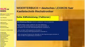 Foto 4 Begriffe Kaeltetechnik + Klimatechnik uebersetzen: deutsch-englisch-franzoesisch Woerterbuch