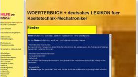 Foto 6 Begriffe Kaeltetechnik + Klimatechnik uebersetzen: deutsch-englisch-franzoesisch Woerterbuch