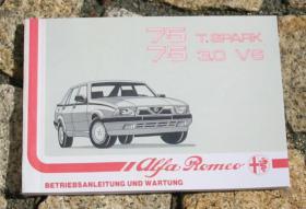 Betriebsanleitung Alfa Romeo 75 2.0 TS / 3.0 V6 America /1989