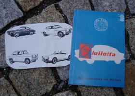 Betriebsanleitung Alfa Romeo Giulietta / Sprint / Spider / Sprint Speciale (1958)