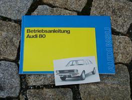 Betriebsanleitung Audi 80 / 1972 S L LS GL