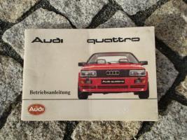 Betriebsanleitung Audi Quattro 1985
