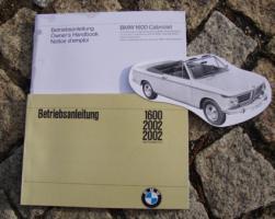 Betriebsanleitung BMW 1600 2002 Cabriolet 1970 mit 1600 Cabriolet