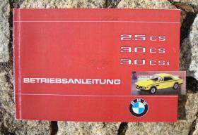 Betriebsanleitung BMW 2.5 CS / 3.0 CS / CSi 1975 E9 Coupé