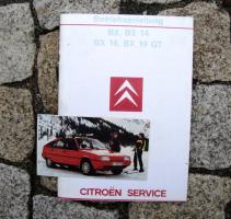 Betriebsanleitung Citroen BX 14 / 16 / 19 GT (1985)