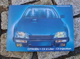Betriebsanleitung Citroen CX 2000 / 2500 1983