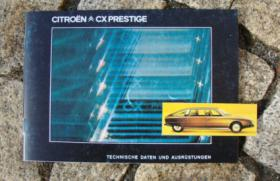 Foto 6 Betriebsanleitung Citroen CX 25 GTi Turbo 2 u. Prestige / 1985