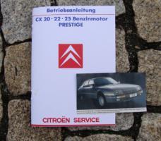 Foto 7 Betriebsanleitung Citroen CX 25 GTi Turbo 2 u. Prestige / 1985