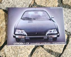 Foto 8 Betriebsanleitung Citroen CX 25 GTi Turbo 2 u. Prestige / 1985