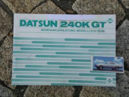 Betriebsanleitung Datsun 240 K GT / 1978 Skyline / Nissan