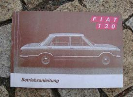 Betriebsanleitung Fiat 130 A / 1970 2800 V6