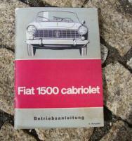Foto 2 Betriebsanleitung Fiat 1500 Cabriolet / 1965 118K