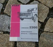 Betriebsanleitung Fiat 2300 / 2300 Spezial Limousine 1962