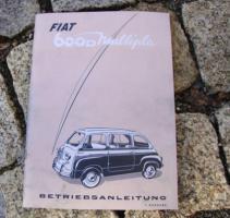 Betriebsanleitung Fiat 600 D Multipla Oldtimer / 1961