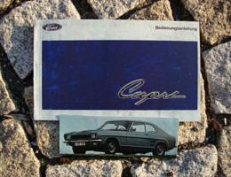Betriebsanleitung Ford Capri I / 1969