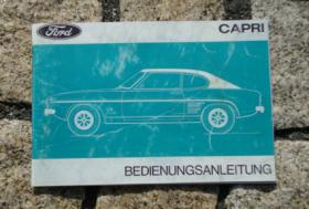 Betriebsanleitung Ford Capri Mk I / 1971