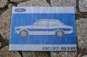 Betriebsanleitung Ford Escort I RS 2000 / 1973