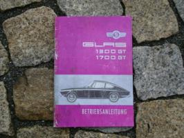 Betriebsanleitung Glas 1300 GT / 1700 GT 1965 Coupé Cabriolet