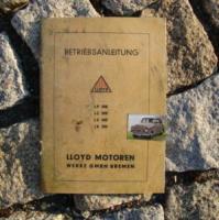 Betriebsanleitung Lloyd LP 300 / 1952 Kleinwagen Oldtimer