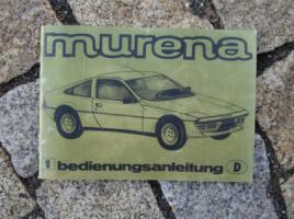 Betriebsanleitung Matra Murena 1981