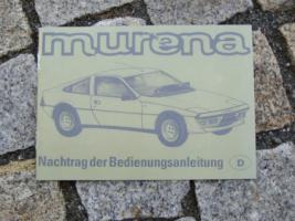 Foto 2 Betriebsanleitung Matra Murena 1981