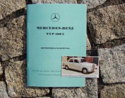 Betriebsanleitung Mercedes 190 b (1959) Ponton