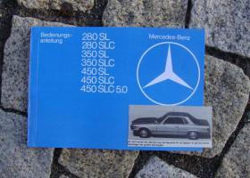 Betriebsanleitung Mercedes 280 SL 350 SL 450 SLC / 1979