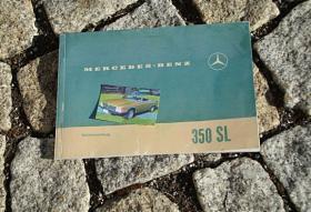 Betriebsanleitung Mercedes W107 350 SL / 1971
