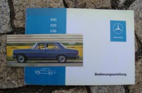 Betriebsanleitung Mercedes W114 200 220 230 /8 1972