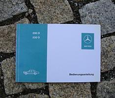 Betriebsanleitung Mercedes W115 200 D 220 D / 1973 /8