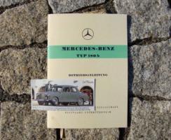 Betriebsanleitung Mercedes W120 180 b 1959 Ponton