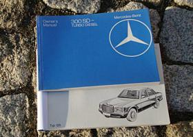 Betriebsanleitung Mercedes W126 300 SD Turbodiesel / 1982