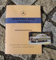 Betriebsanleitung Mercedes W180 220 SE / 1958 Ponton