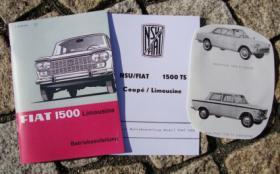 Betriebsanleitung NSU-Fiat Siata 1500 TS Limousine Coupé / 1965 Oldtimer