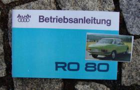 Betriebsanleitung NSU Ro 80 1977