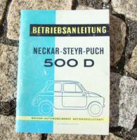 Betriebsanleitung Neckar Steyr-Puch 500 D / 1960