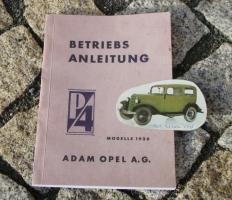 Betriebsanleitung Opel 1,0 Liter ''P4'' 1936