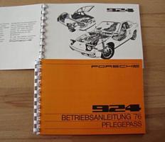 Betriebsanleitung Porsche 924 (1976)