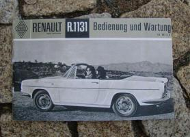 Betriebsanleitung Renault Caravelle Cabriolet 1962 (R1131)