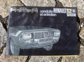 Betriebsanleitung Renault R 12 Gordini / 1970